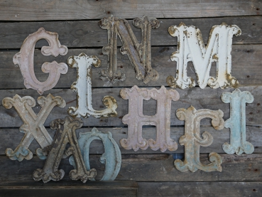 Vintage Buchstabe Shabby Chic Antique