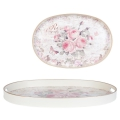 Tablett oval Rose Clayre