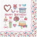 Papierservietten Serviette Happy Birthday Geburtstag