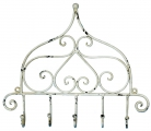 Wandhaken Shabby Chic Antique weiss