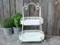 Preview: Etagere Shabby Chic Antique Metall weiss