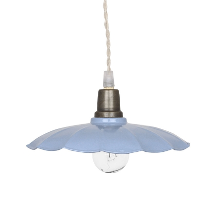 Hängelampe Pendellampe Industrial Factory Shabby Chic Emaille Light Blue