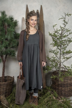 Jeanne d`Arc Living Kleid Delightful mind Dark Grey SX / S