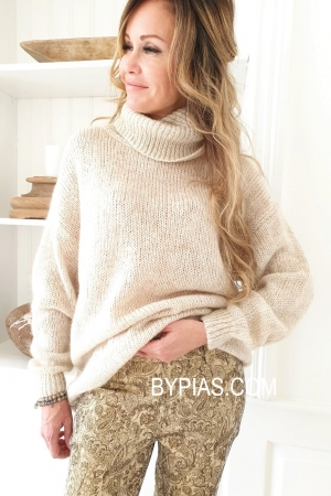 BOHEMIANA by Bypias Fall in Love Beige Pullover onesize