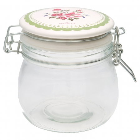 GreenGate Vorratsglas Storage Emmaline white 0,5 l