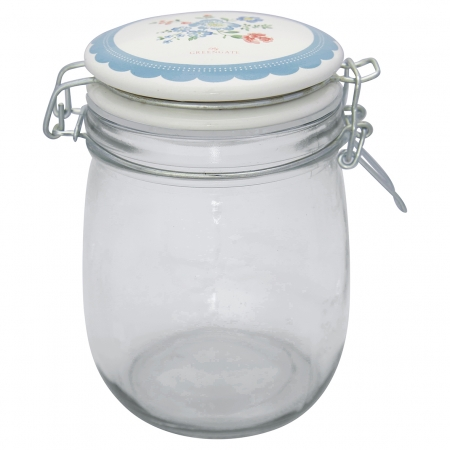 GreenGate Vorratsglas Storage Henriette pale blue 0,75 l