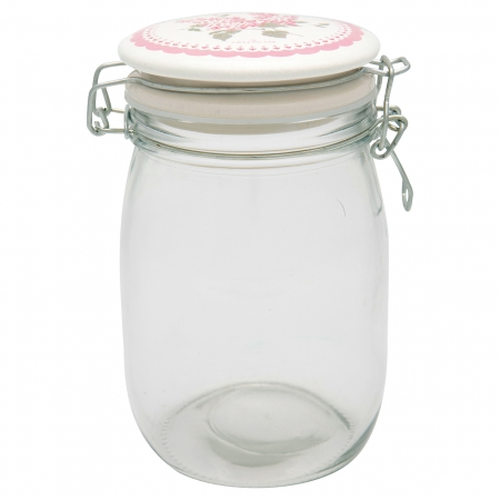 GreenGate Vorratsglas Storage Emmaline white 1 l