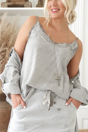 BOHEMIANA by Bypias Nicole Top Cool grey