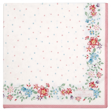 GreenGate Papierserviette Belle white 20 Stk.