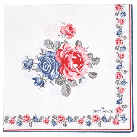 GreenGate Papierserviette Halley white 20 Stk.  Serviette