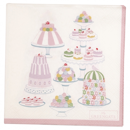 Papierserviette Tenna white smal 20 Stk. Muffin Serviette