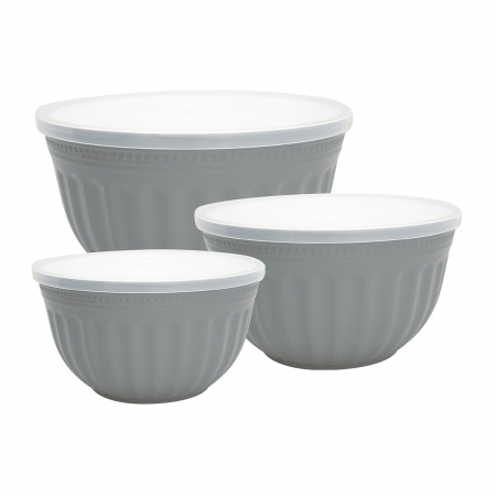 GreenGate Alice grey Bowl set of 3 Dose mit Deckel
