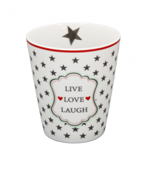 Happy Mug Becher Tasse Live Love Laugh