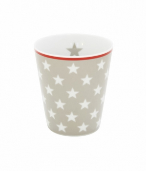 Happy Mug Becher Tasse TAUPE STAR Krasilnikoff