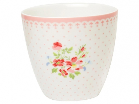 Greengate Latte Cup Sinja white