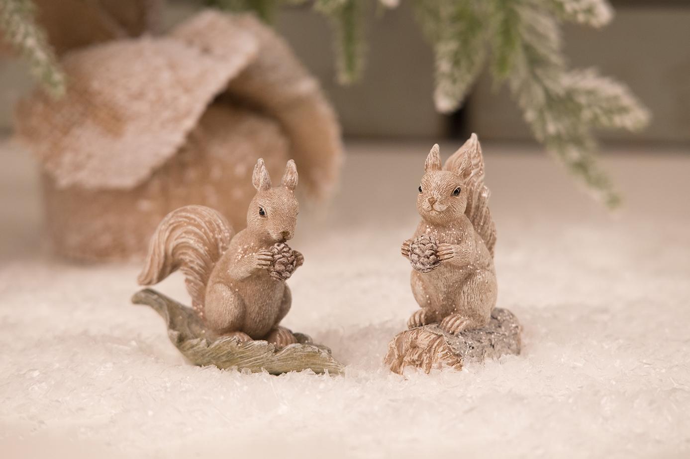 Dekofigur, Eichhörnchen, Blatt, Baumstamm, Weihnachten, Advent ...