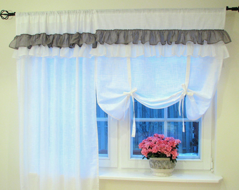 gardine raffgardine swedish interior schwedische gardine romantische fensterdeko. Black Bedroom Furniture Sets. Home Design Ideas