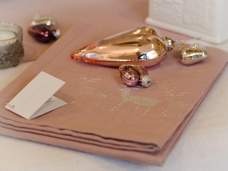 rosa elch rentier k chentuch geschirrtuch geschirrhandtuch. Black Bedroom Furniture Sets. Home Design Ideas