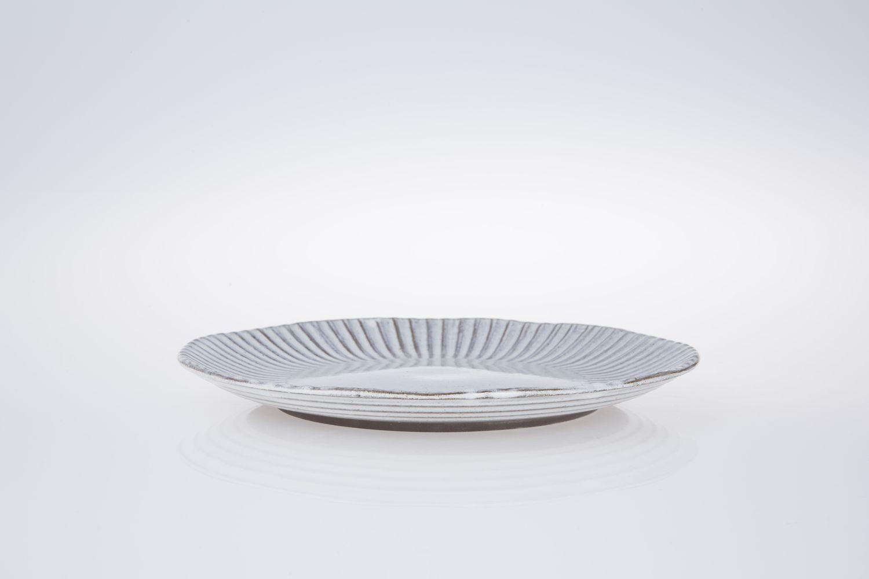 Perfect Teller Essteller Grau Blau Wei Geschirr Keramik Steinzeug Handarbeit With