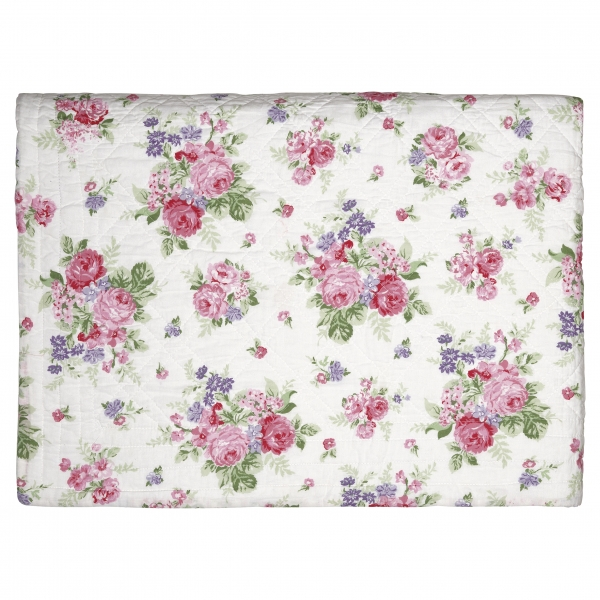 GreenGate Tagesdecke Roses white