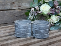 Eimer Zink grau Shabby Chic Antique
