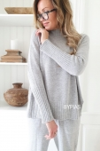 BOHEMIANA by Bypias Autumn skies Pullover grey