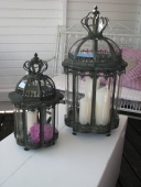 Laterne Krone Metall Glas Shabby Chic