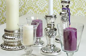 Vintage Kommode Laterne Shabby Windlicht Säule Kerzensäule Weiss Kerzenleuchter